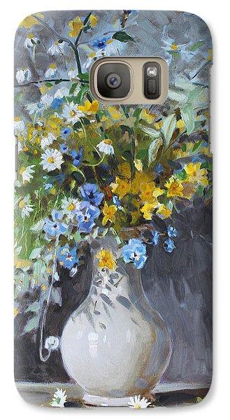 Daisy Galaxy S7 Case - Wild Flowers by Ylli Haruni