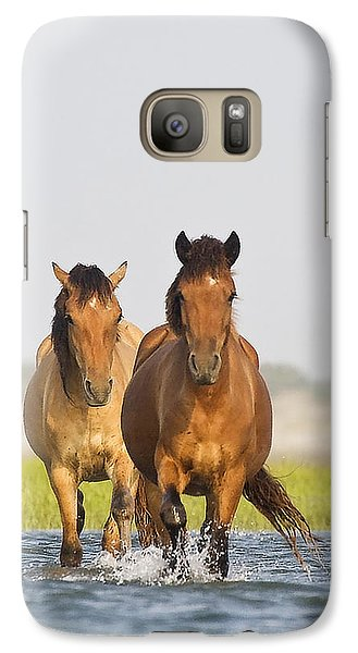 Galaxy Case featuring the photograph Wild Horses by Bob Decker