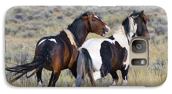 Wild Mustangs Playing Galaxy S7 Case