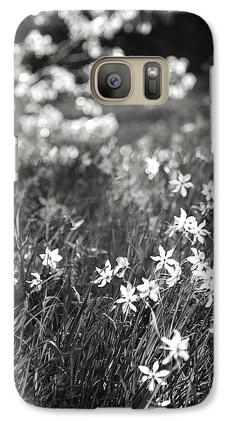 Galaxy Case featuring the photograph Wild Narcissus At The Forest's Edge by Colleen Williams