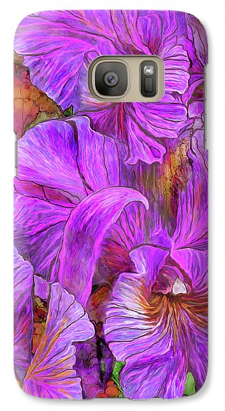 Galaxy Case featuring the mixed media Wild Orchids by Carol Cavalaris