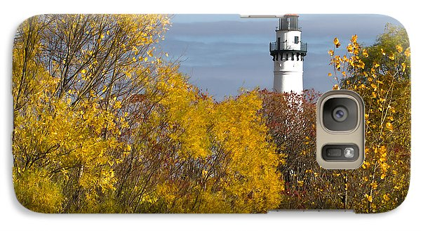 Wind Point Lighthouse In Fall Galaxy S7 Case by Ricky L Jones