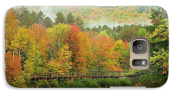 Galaxy Case featuring the photograph Wild River Bridge by Susan Cole Kelly