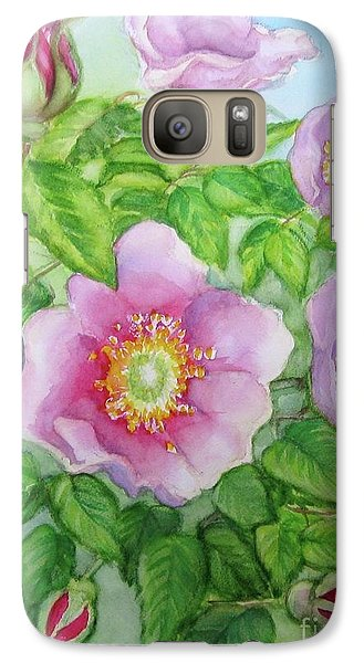 Galaxy Case featuring the painting Wild Rose 3 by Inese Poga