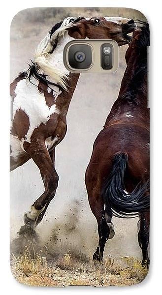 Wild Stallion Battle - Picasso And Dragon Galaxy S7 Case