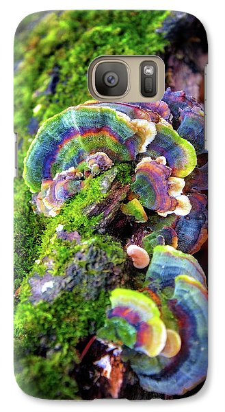 Galaxy Case featuring the photograph Wild Striped Mushroom Growing On Tree - Paradise Springs - Kettle Moraine State Forest by Jennifer Rondinelli Reilly - Fine Art Photography