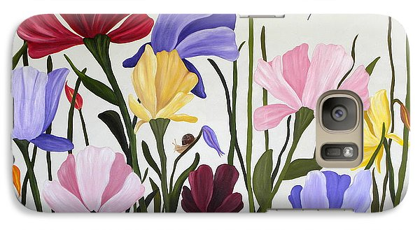 Galaxy Case featuring the painting Wild Tulips by Terri Mills