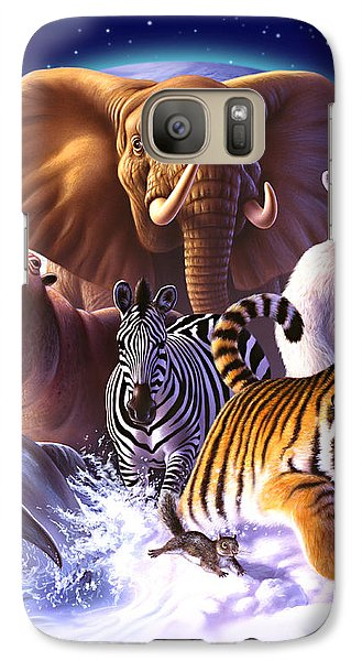 Bear Galaxy S7 Case - Wild World by Jerry LoFaro