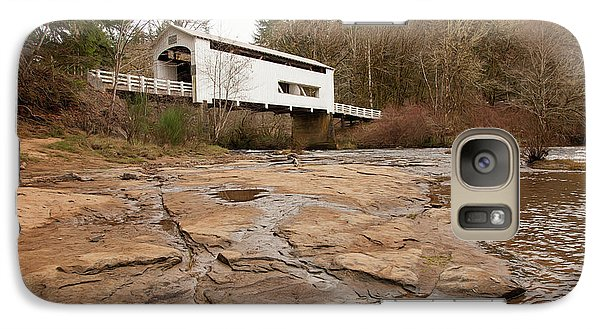 Galaxy Case featuring the photograph Wildcat Bridge In Winter by Mary Jo Allen