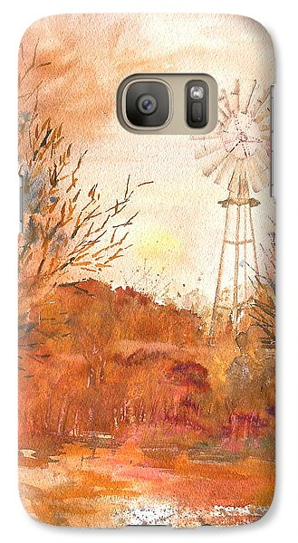 Galaxy Case featuring the painting Wilderness Windmill by Sharon Mick