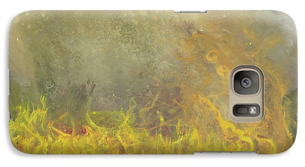 Galaxy Case featuring the painting Wildfire by Antonio Romero