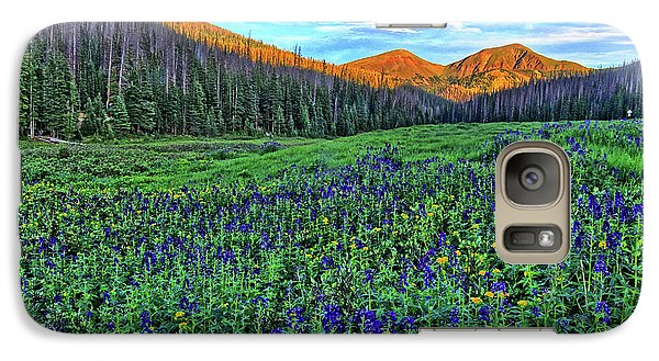 Galaxy Case featuring the photograph Wildflower Park by Scott Mahon