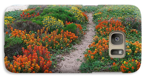 Wildflower Path At Ribera Beach Galaxy S7 Case