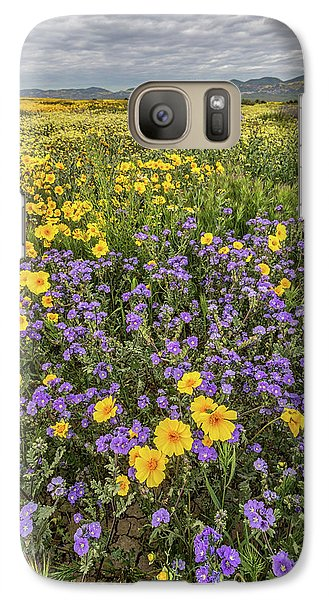 Galaxy Case featuring the photograph Wildflower Super Bloom by Peter Tellone