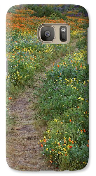 Galaxy Case featuring the photograph Wildflower Trail At Diamond Lake In California by Jetson Nguyen