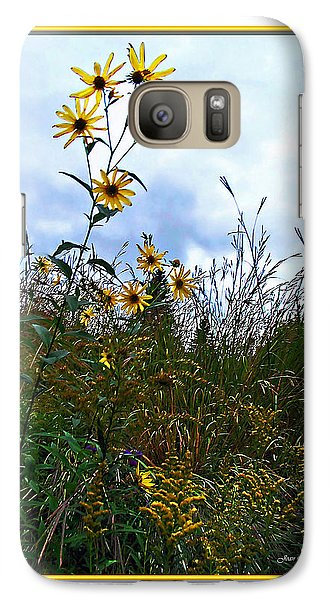 Galaxy Case featuring the photograph Wildflowers And Mentor Marsh by Joan  Minchak