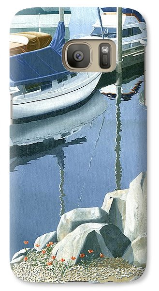 Galaxy Case featuring the painting Wildflowers On The Breakwater by Gary Giacomelli