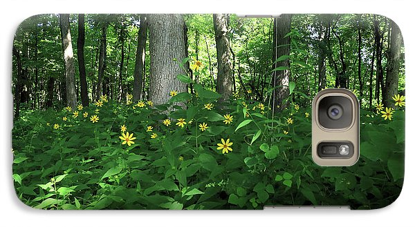 Galaxy Case featuring the photograph Wildflowers On The Edge Of The Forest by Scott Kingery