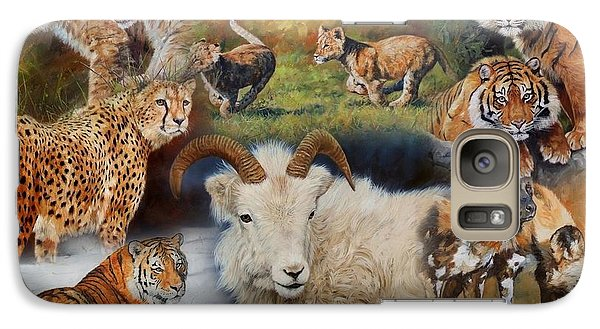 Wildlife Collage Galaxy Case by David Stribbling
