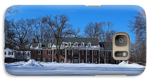 Galaxy Case featuring the photograph Wildwood Manor House In The Winter by Michiale Schneider
