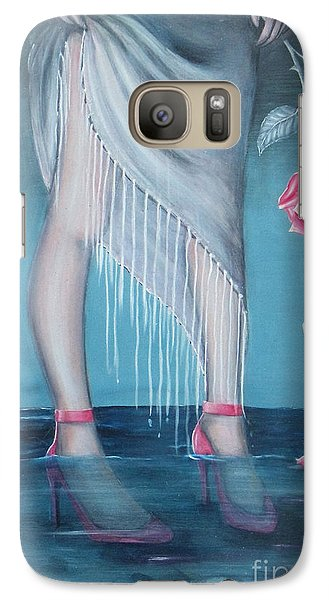 Galaxy Case featuring the painting Will You Be My Valentine by S G