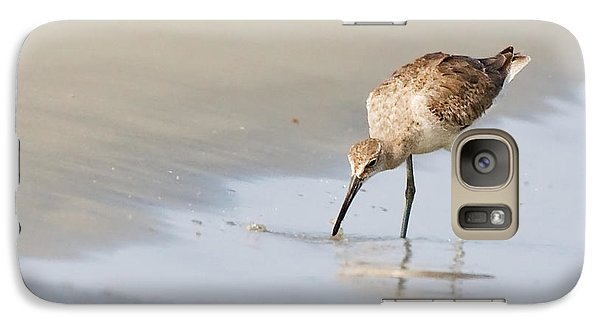 Galaxy Case featuring the photograph Willet On Beach by Bob Decker