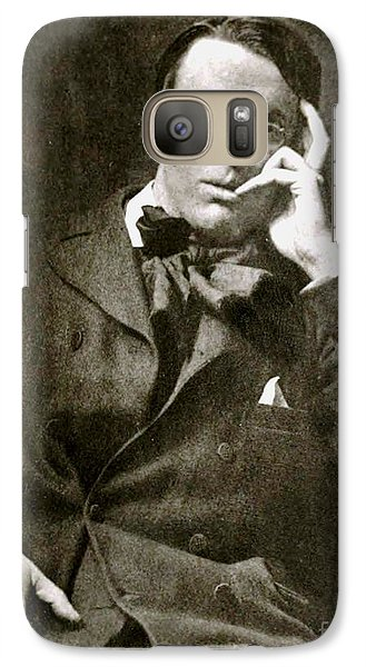 Galaxy Case featuring the photograph William Butler Yeats by Pg Reproductions