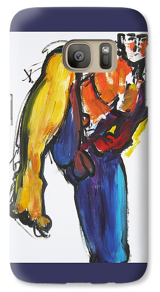 Galaxy Case featuring the painting William Flynn Kick by Shungaboy X