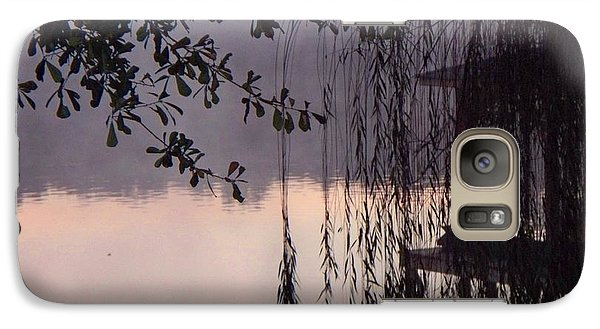 Galaxy Case featuring the photograph Willow's Dawn by Betty Northcutt