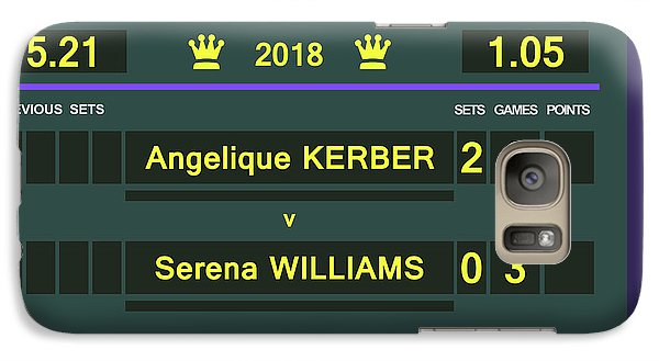 Venus Williams Galaxy S7 Case - Wimbledon Scoreboard - Customizable - 2017 Muguruza by Carlos Vieira