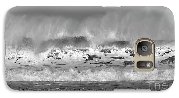 Galaxy Case featuring the photograph Wind Blown Waves by Nicholas Burningham