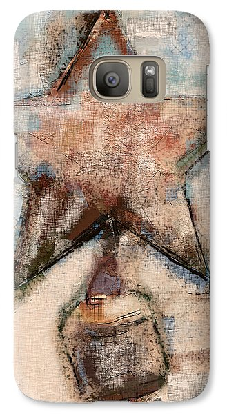 Galaxy Case featuring the mixed media Wind Chime by Carrie Joy Byrnes