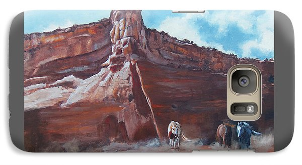 Galaxy Case featuring the painting Wind Horse Canyon by Karen Kennedy Chatham