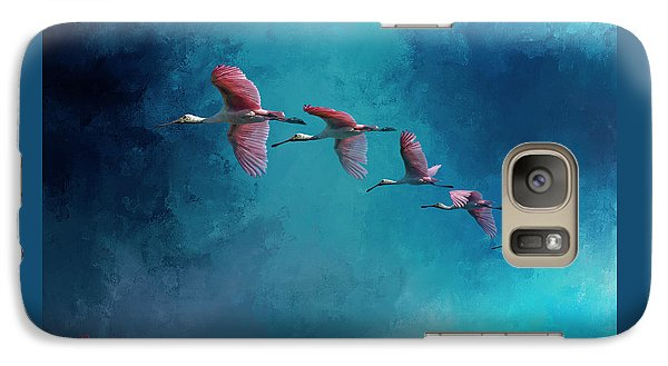 Spoonbill Galaxy S7 Case - Wind Surfing by Marvin Spates