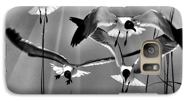 Galaxy Case featuring the photograph Wind Swept Bw by Jan Amiss Photography