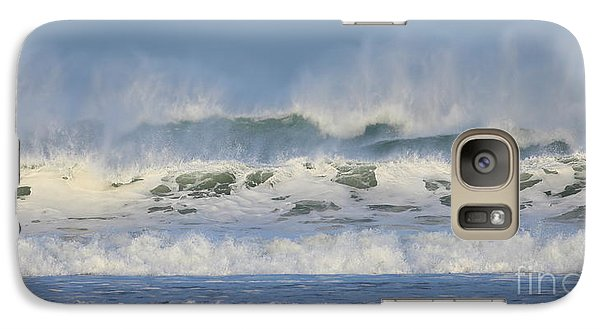 Galaxy Case featuring the photograph Wind Swept Waves by Nicholas Burningham