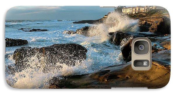 Galaxy Case featuring the photograph Windansea Beach At High Tide by Eddie Yerkish