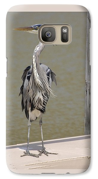 Galaxy Case featuring the photograph Windblown Heron by Kathleen Stephens
