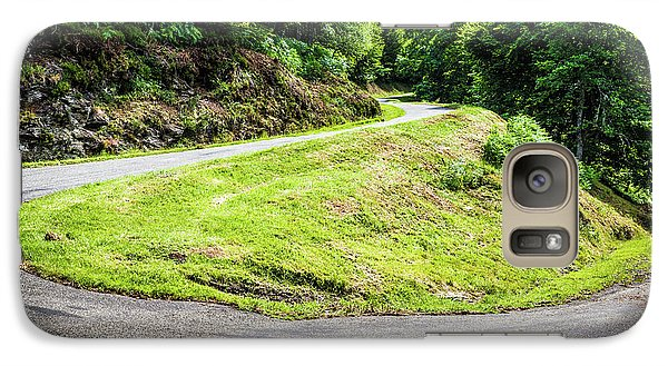 Galaxy Case featuring the photograph Winding Road With Sharp Bend Going Up The Mountain by Semmick Photo