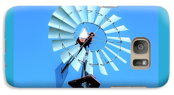 Galaxy Case featuring the photograph Windmill - Bright Sunny Day by Ray Shrewsberry