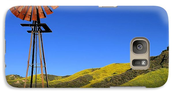 Galaxy Case featuring the photograph Windmill by Henrik Lehnerer
