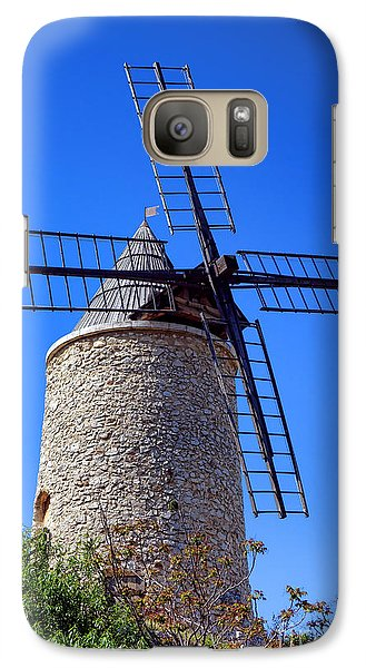 Galaxy Case featuring the photograph Windmill In Provence by Olivier Le Queinec