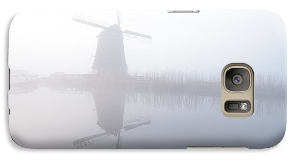 Galaxy Case featuring the photograph Windmill Reflection by Phyllis Peterson