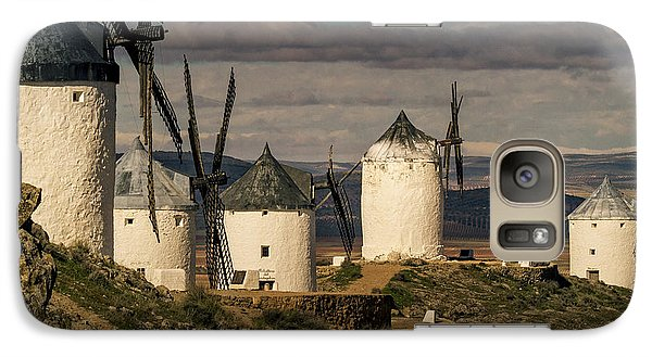 Galaxy Case featuring the photograph Windmills Of La Mancha by Heiko Koehrer-Wagner