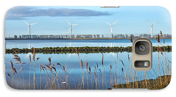 Galaxy Case featuring the photograph Windmills On A Windless Morning by Frans Blok