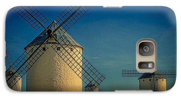 Galaxy Case featuring the photograph Windmills Under Blue Sky by Heiko Koehrer-Wagner