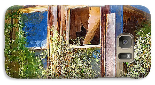 Galaxy Case featuring the photograph Window 2 by Susan Kinney