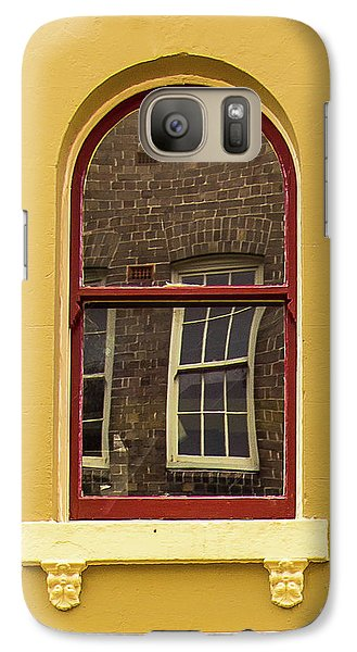 Galaxy Case featuring the photograph Window And Window 2 by Perry Webster