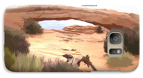 Galaxy Case featuring the digital art Window On The Valley by Gary Baird