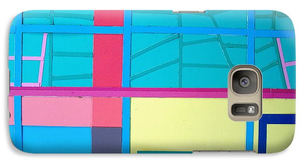 Galaxy Case featuring the mixed media Window Reflections by Vonda Lawson-Rosa